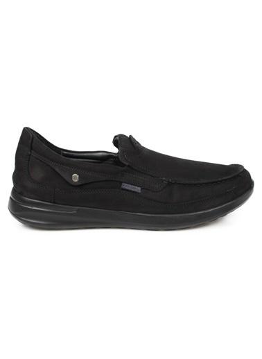 Scooter M1099 Nubuk Gri Hakiki Deri Erkek Günlük Ayakkabı Siyah